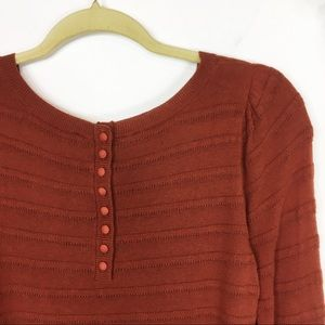 LOFT Sweaters - LOFT sweater burnt sienna textured button 0545